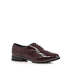 Red Herring - Dark red patent lace up brogues