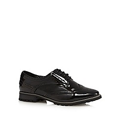 Red Herring - Black patent lace up brogues