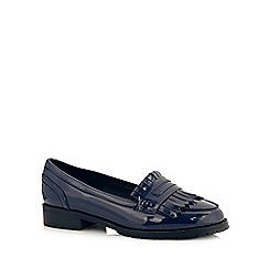 Red Herring - Navy patent loafer style shoes
