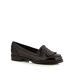 Red Herring - Black patent loafer style shoes
