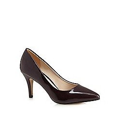 Red Herring - Dark red patent high court shoes
