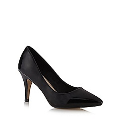 Red Herring - Black patent pointed toe high court shoes