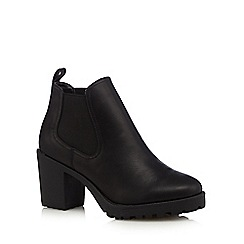 Red Herring - Designer black leather mid boots