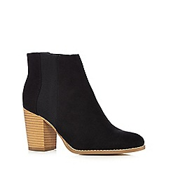 Red Herring - Black suedette high chelsea boots