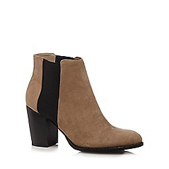 Red Herring - Brown suedette high chelsea boots