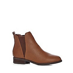 Red Herring - Light brown chelsea boots