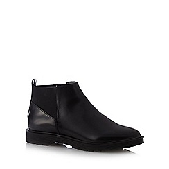 Red Herring - Black elastic cuff PU ankle boots