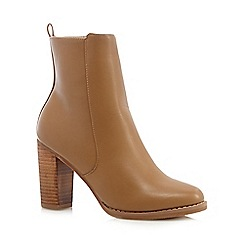 Red Herring - Light tan mid ankle PU boots