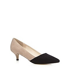 Red Herring - Black suedette colour block mid court shoes