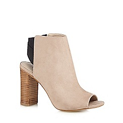 Red Herring - Taupe peep toe shoe boots