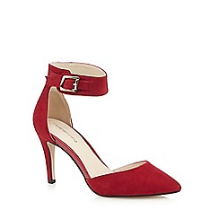 Red Herring - Red suedette high court shoes
