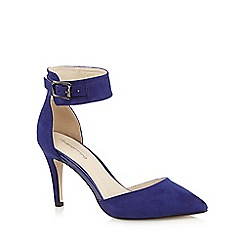 Red Herring - Blue suedette high court shoes
