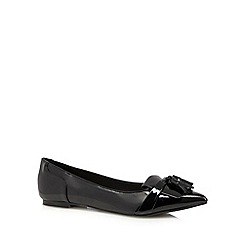 Red Herring - Black patent tassel detail pumps