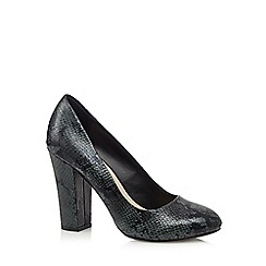 Red Herring - Dark green snakeskin court shoes
