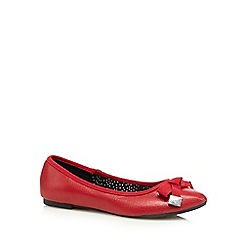 Red Herring - Red faux snakeskin bow detail pumps
