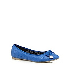 Red Herring - Bright blue suedette bow detail pumps