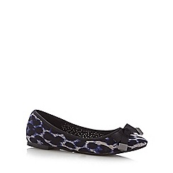 Red Herring - Black leopard pointed toe pumps