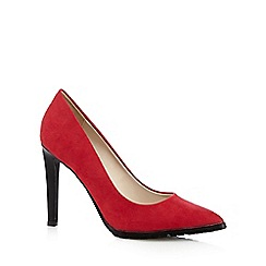 Red Herring - Red suedette cleated sole high court shoes