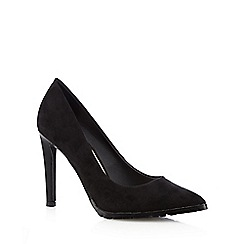 Red Herring - Black suedette cleated sole high court shoes