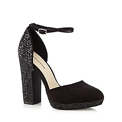 Red Herring - Black glitter platform courts
