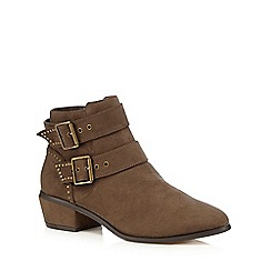 Red Herring - Taupe studden ankle boots