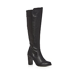 Red Herring - Black high heeled knee high boots