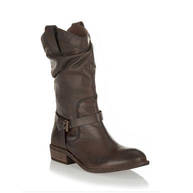 Cowboy-Stiefel aus Leder im Used-Look, braun