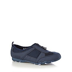 Mantaray - Navy zipped mesh insert trainers