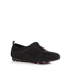 Mantaray - Black zipped mesh insert shoes