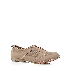 Mantaray - Taupe zipped mesh insert shoes