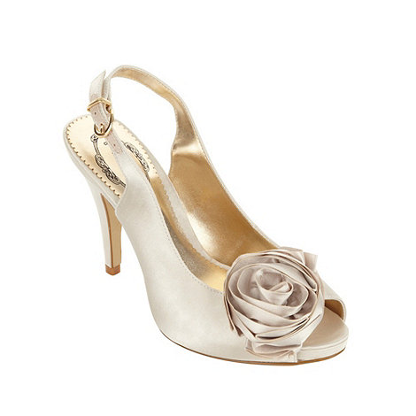 Debut - Ivory satin corsage shoes