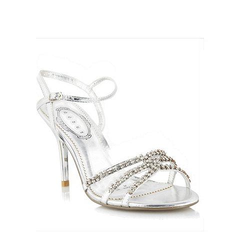 Debut - Silver diamante strap sandals