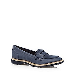 Mantaray - Navy textured loafers