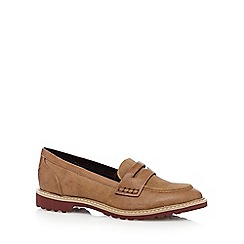 Mantaray - Tan textured loafers