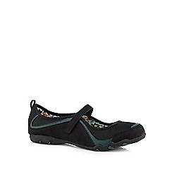 Mantaray - Black sporty Mary Jane pumps