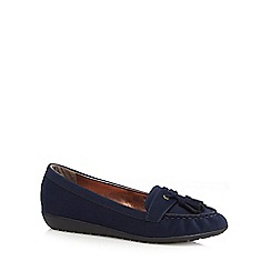 Mantaray - Navy tassel detail moccasins