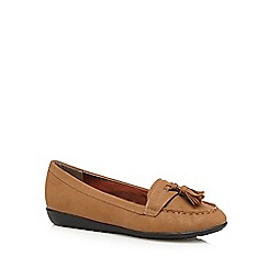 Mantaray - Tan tassel detail moccasins