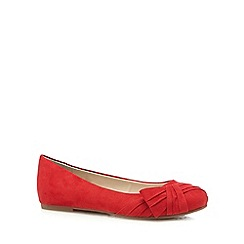 Good for the Sole - Red bow wide fit slip-on shoes