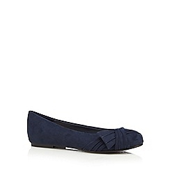 Good for the Sole - Navy 'Gabby' wide fit flat shoes