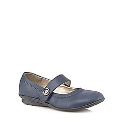Good for the Sole - Navy 'Mary Jane' wide fit shoes