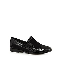 Good for the Sole - Black mixed punch wide fit slip ons