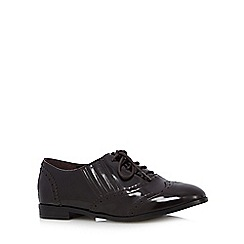 Good for the Sole - Wine patent lace up wide fit brogues