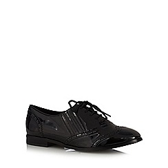 Good for the Sole - Black patent lace up wide fit brogues