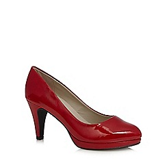 Good for the Sole - Red patent mid court wide fit shoes
