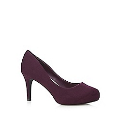 Good for the Sole - Purple suedette wide fit high court shoes