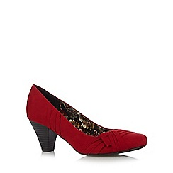 Good for the Sole - Red bow mid heel wide fit shoes