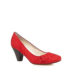 Good for the Sole - Red bow wide fit shoes