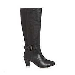 Good for the Sole - Black buckle high leg boots