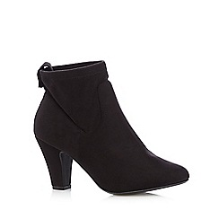 Good for the Sole - Black stretch cuff wide fit high ankle boots