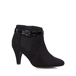 Good for the Sole - Black buckle wide fit low ankle boots